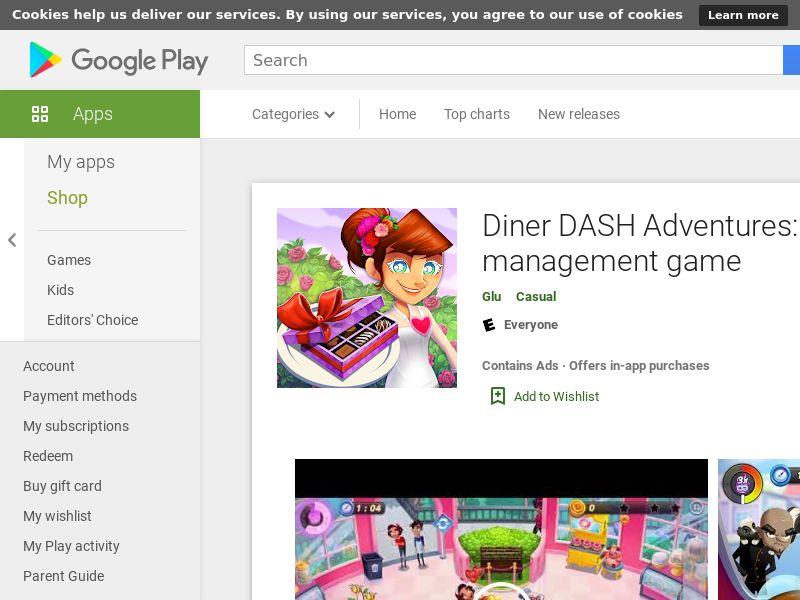 DinerDash Android US GAID Appname