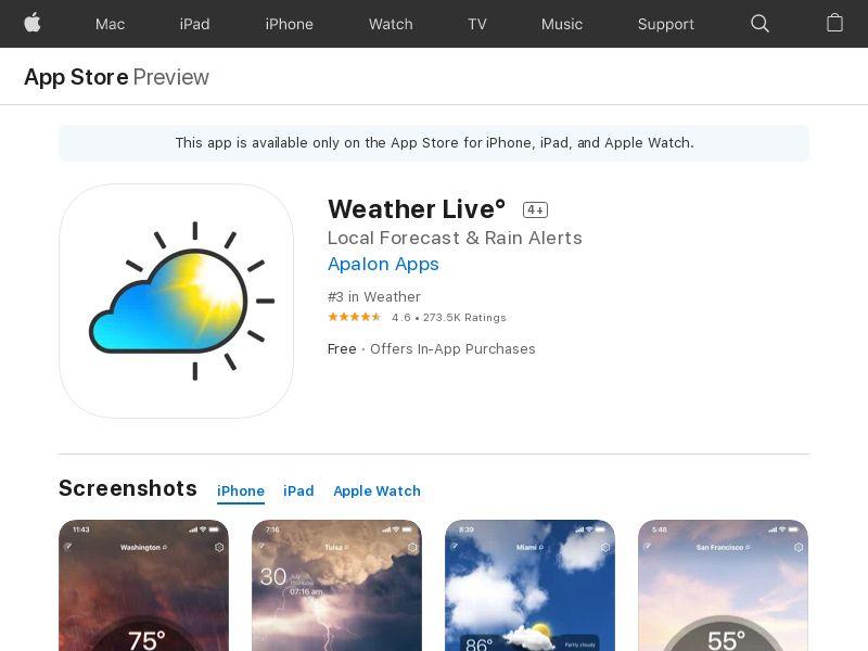 Weather Live US IOS (CPE)
