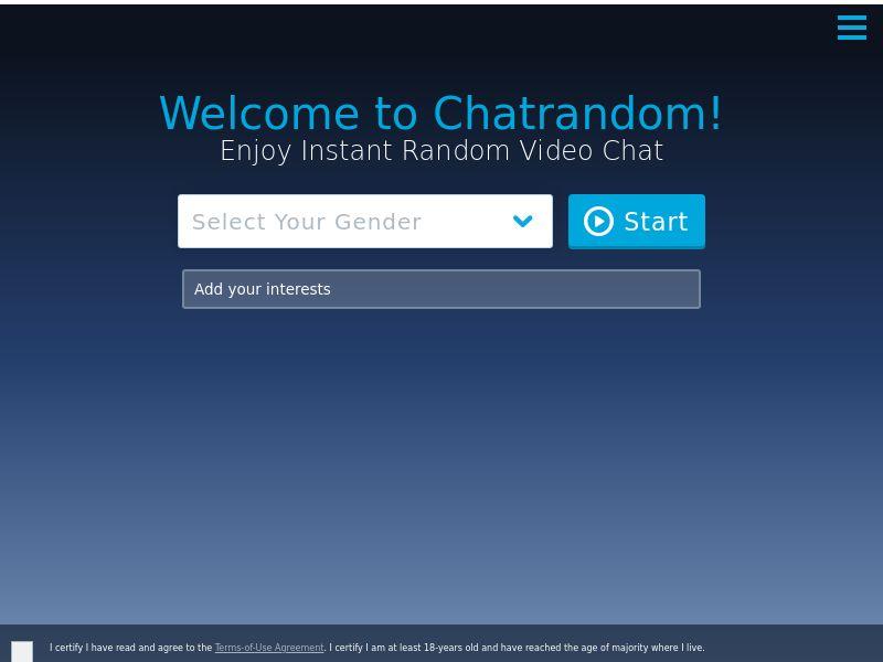 ChatRandom - Revshare - Responsive