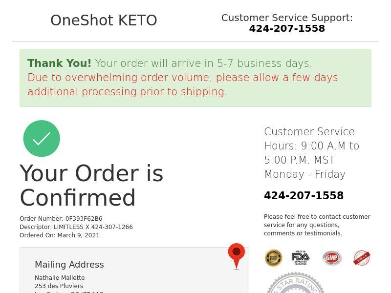One Shot Keto CA