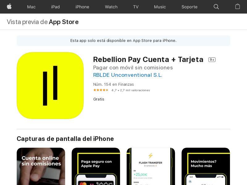 Rebellion Pay ES CPI IOS (non-incent) *KPI