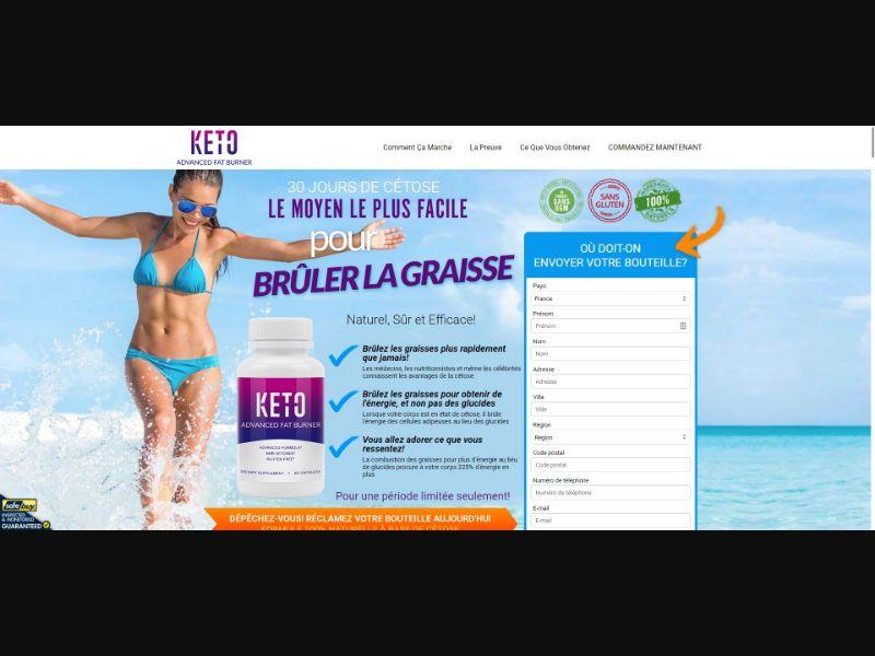Keto Advanced Fat Burner - Diet & Weight Loss - SS - [FR]