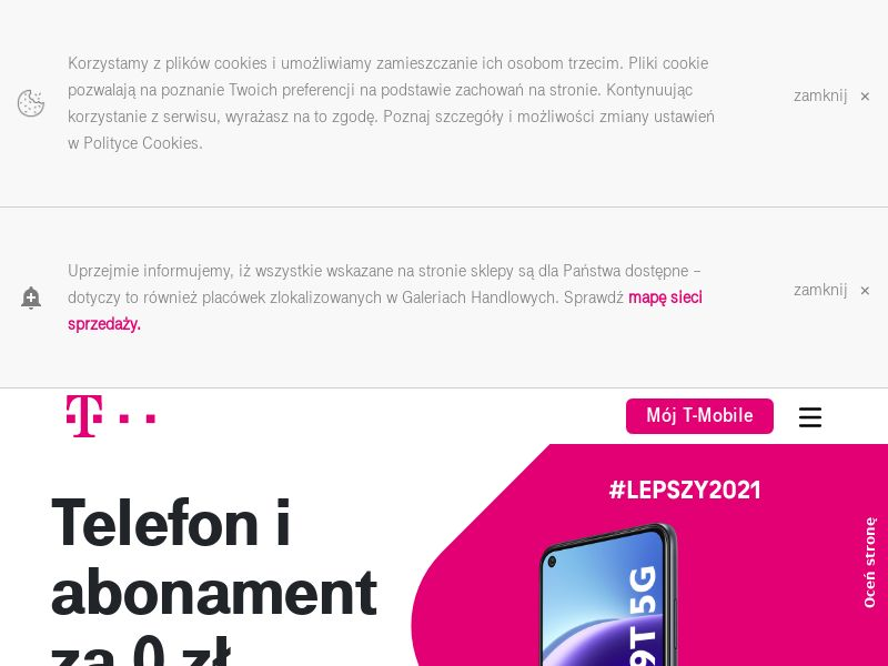 T-mobile E-shop - PL (PL), [CPS | CPL], Appliances and Electronics, Telephones and accessories, Services, Online, Sell, shop, gift