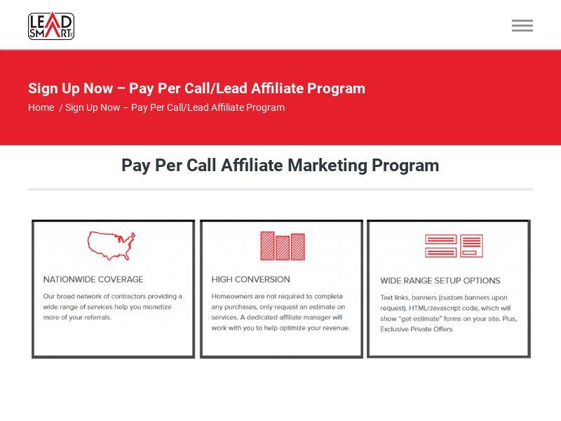 Patio Covers - Pay Per Call - Revenue Share