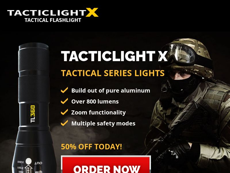 TacticalX Flashlight [ECOMMERECE] - CPA - INTL