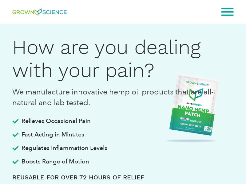 CBD Patch - Nano Pain Relief Patch - CPA - [US]