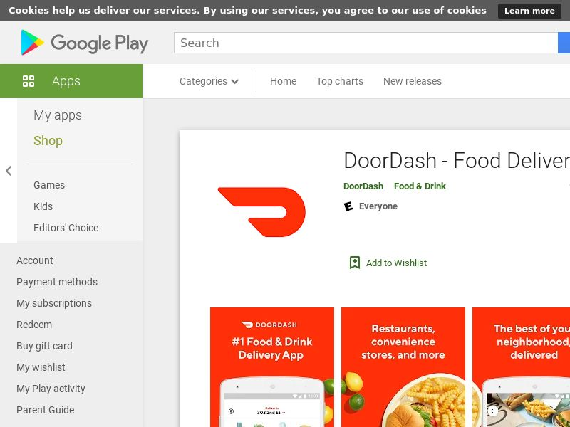 Doordash - Android - CA (CPA=First order)