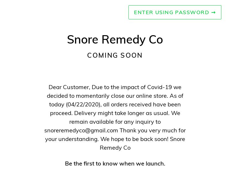 Snore Remedy - INCENT - US