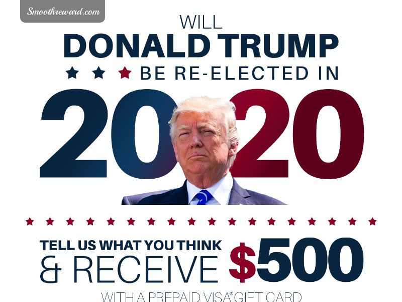 TRUMP 2020 Get A $500 GiftCard