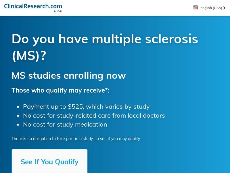 CT Relapsing MS Survey (US) (CPL)