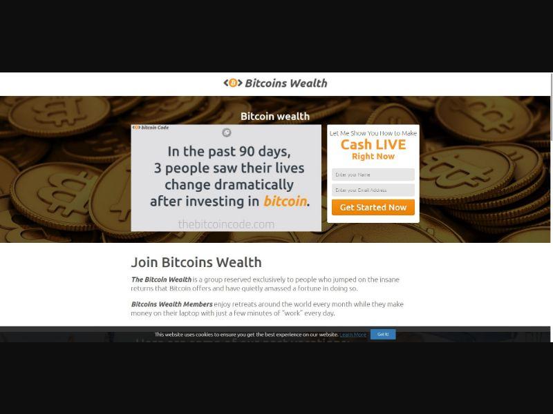 Bitcoin Wealth - $250 min CTC - VSL - Crypto - SS - [50 GEOs]