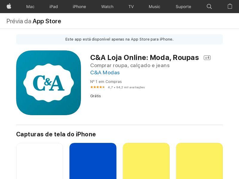 C&A BR iOS Nonincent