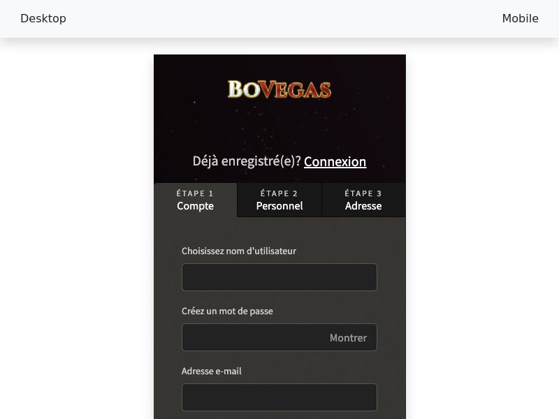 BoVegas casino - CPA - FR - SEO, PPC, APPS