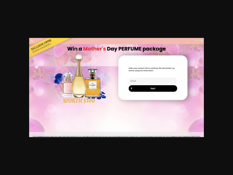 YOUSWEEPS Win a Mothers Day Perfume Package (US) SOI