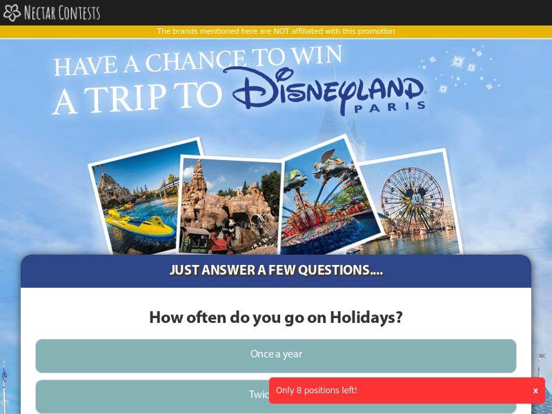 Win a Disneyland Trip - UK (GB), [CPL]