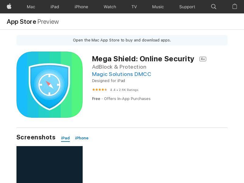 Megashield with prelander iOS US CPI MOB