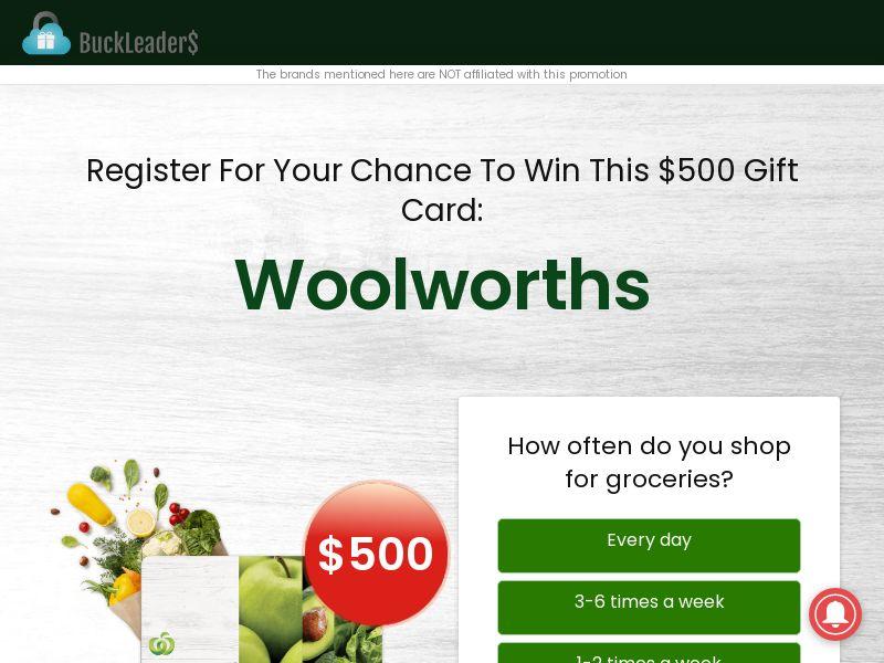 Woolworths Gift Card - AU