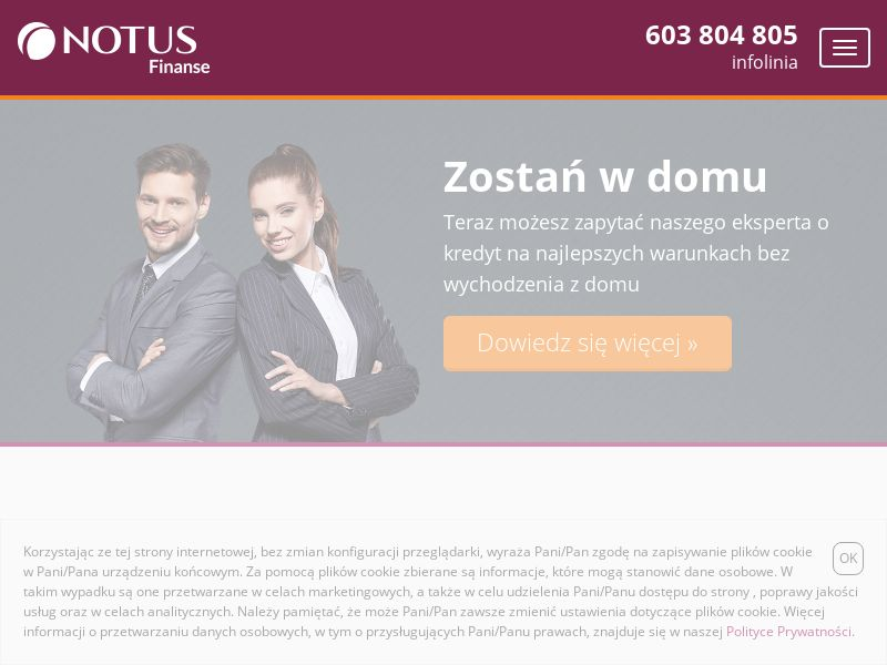 NOTUS Finanse - Kredyt mieszkaniowy (PL), [CPL   CPS], Business, Credit, Mortgage credit, Call center contact, loan, money, credit