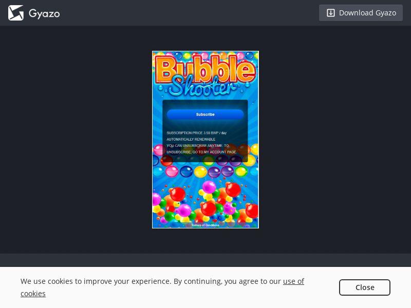Applicateka Bubble Shooter BW | 2-Click/PIN Submit