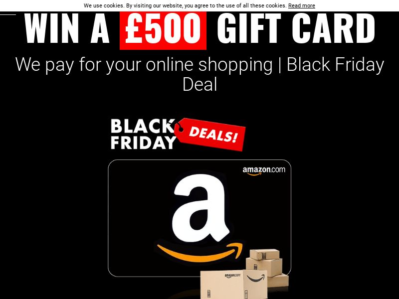 Amazon 500 Black Friday Voucher - UK (GB), [CPL], Lotteries and Contests, Single Opt-In, paypal, survey, gift, gift card, free, amazon