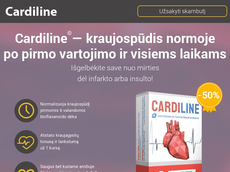 Cardiline LT - pressure stabilizing product
