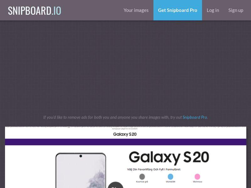 BigEntry - Samsung Galaxy S20 v1 SE - CC Submit