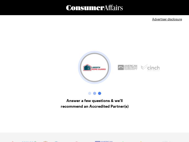 ConsumerAffairs Home Warranty US SOI (WEB) Non Incent PROOF*