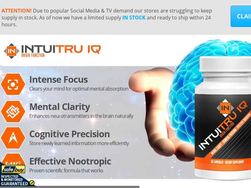 IntuiTru Trial with IntuiBoost Upsell - CA