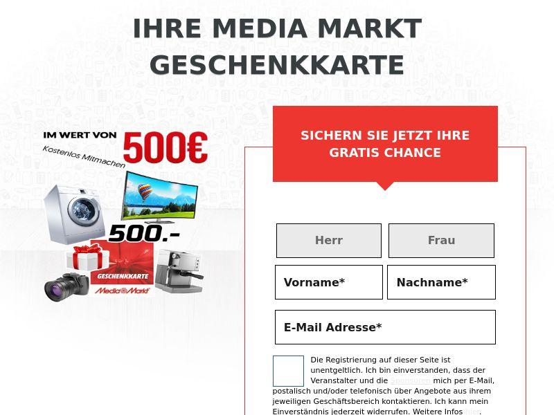 Win €500 MediaMarkt Card DE SOI (WEB) Non Incent