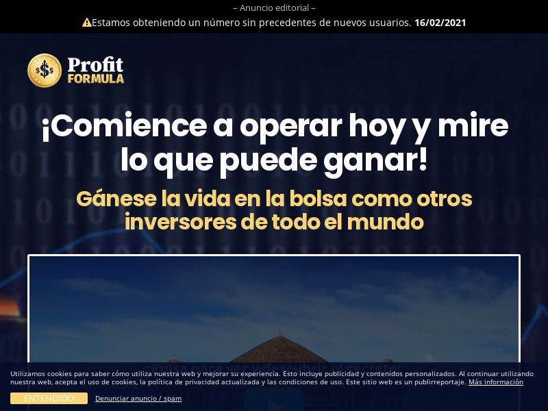 Profit Formula (LATAM only) (BO,BR,CL,CU,MX,PE), [CPA], Business, Investment platforms, Forex, Deposit Payment, bitcoin, cryptocurrency, finance, money
