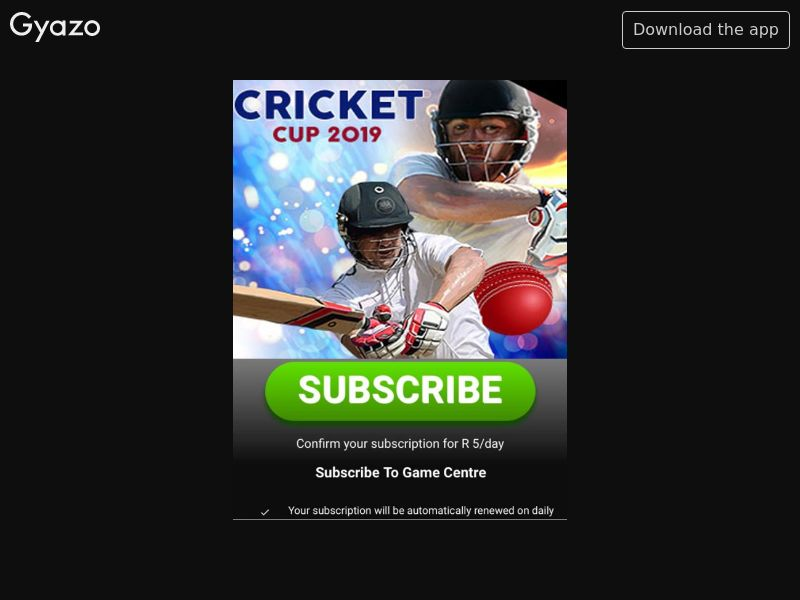 Cricket 2019 (ZA)
