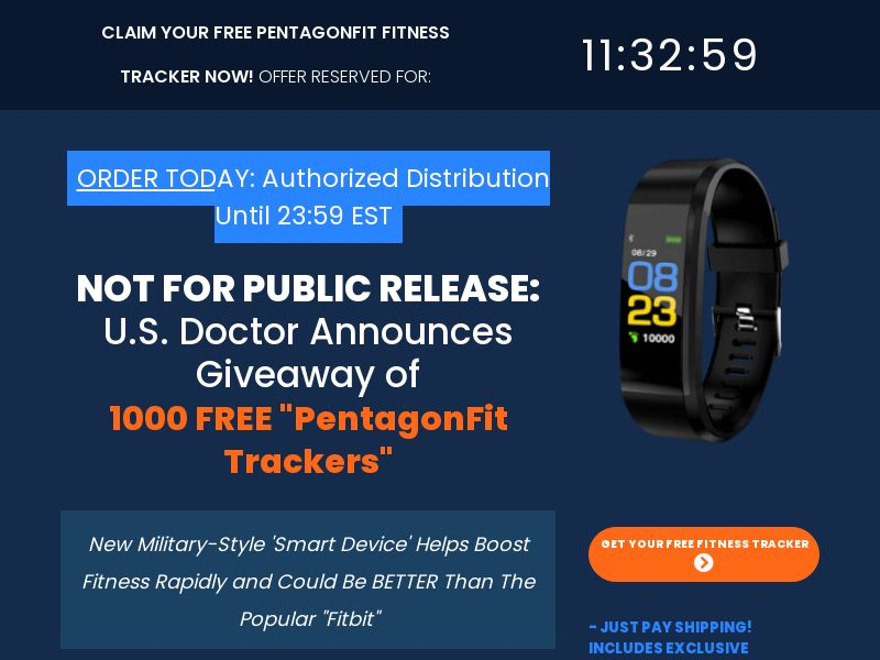 Trial - PentagonFit Fitness Tracker [US] (Email,Native,Search,SEO,Social,PPC) - CPA