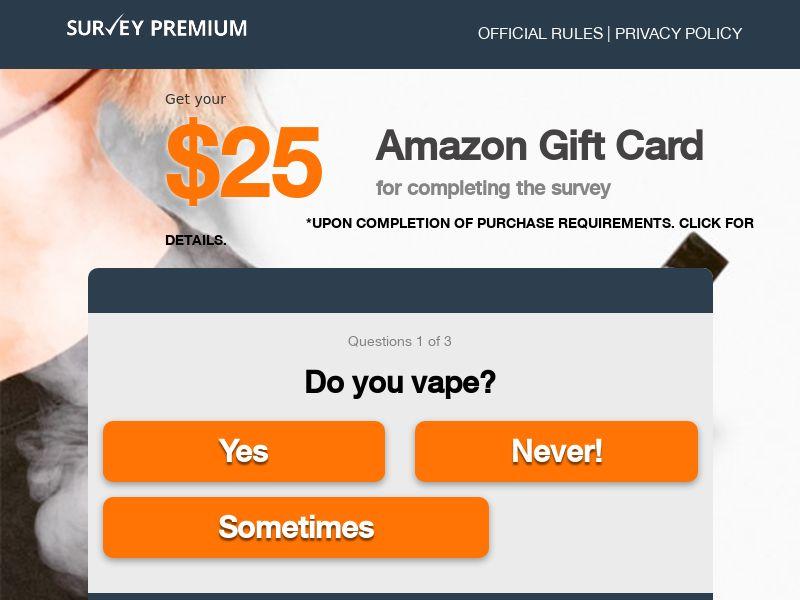 Vape Survey - Email Submit