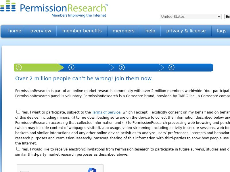Permission Research - US - Incent and Non-Incent OK - Desktop Traffic Only - Converts on signup and installing ComsCore meter on PC