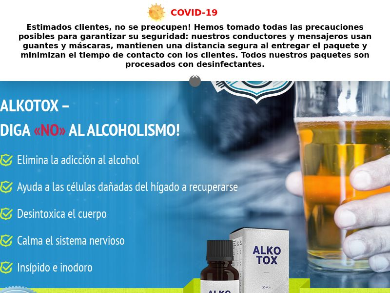 ALKOTOX ES - alcoholism treatment product