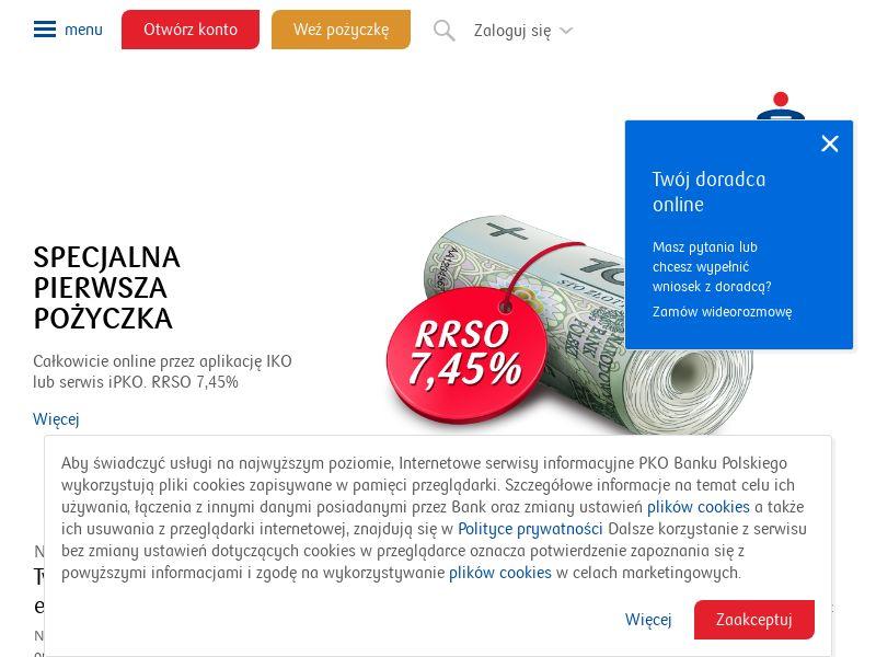 PKO Bank Polski: Pożyczka Gotówkowa PL CPS