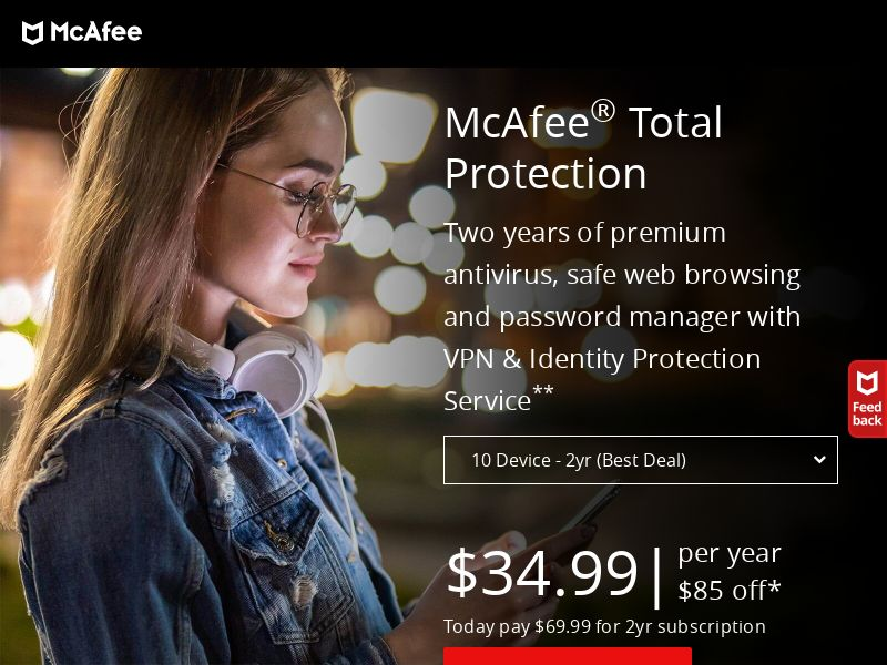 McAfee Antivirus - US - Non-Incent (CPS) (Personal Approval)