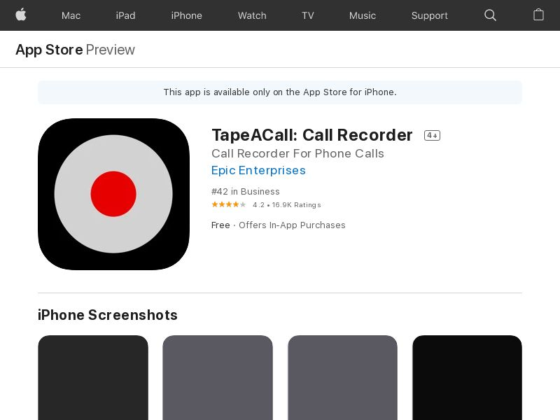 Tape A Call iOS UK (p) *redirects only with IDFA, bunde id) (CPI)