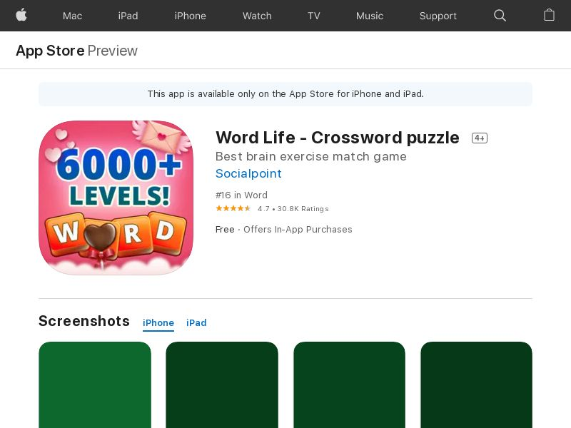 Word Life: Crossword Puzzle & Win Prizes! iOS (Lvl. 31 ) CPE