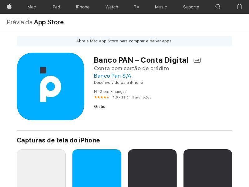 Banco Pan - CPA - iOS - BR