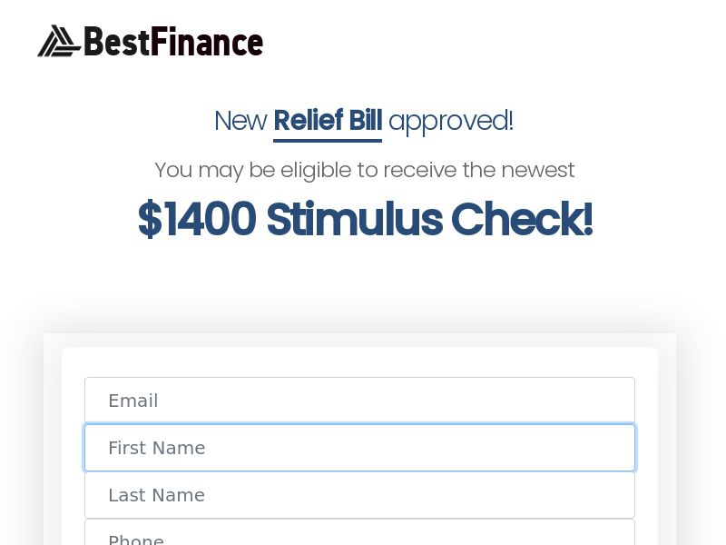 Get newest $1400 Stimulus Check - CPL - US [DIRECT]