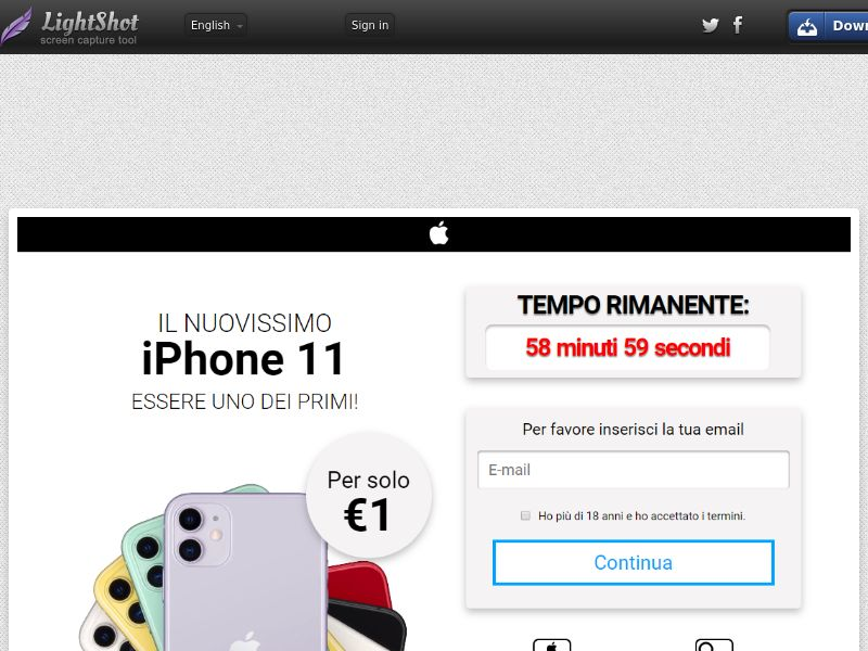 GetRealDeal iPhone 11 White (Sweepstake) (CC Trial) - Italy [IT]