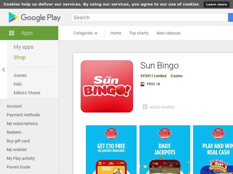 Sun Bingo AND UK
