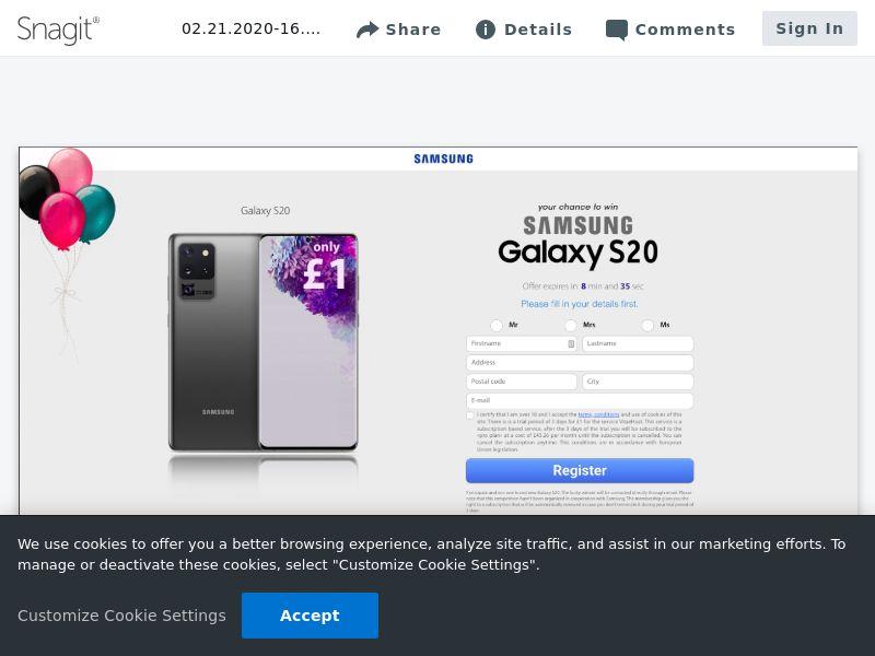 OV - Samsung Galaxy S20   CA,AU,NZ