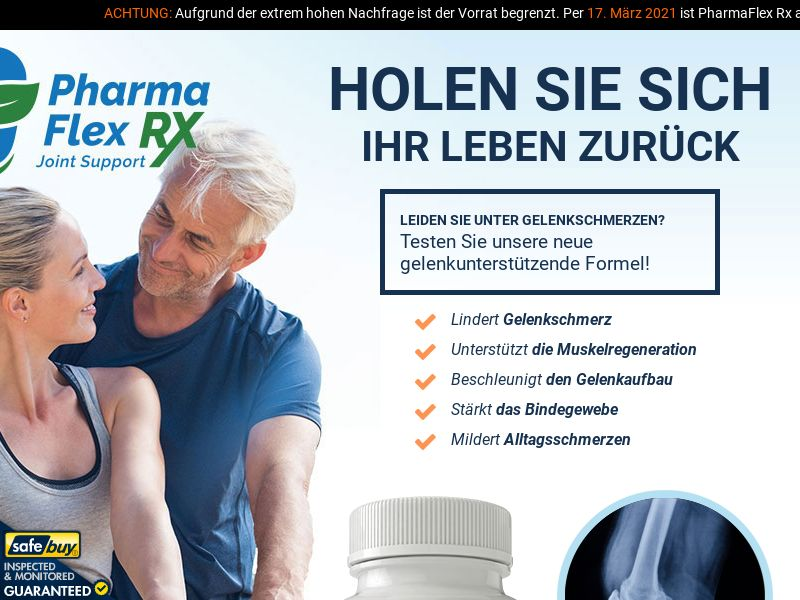 PharmaFlex RX- German [DE, AT, CH] (Social,Banner,PPC,Native,Push,SEO,Search)(No Email) - CPA