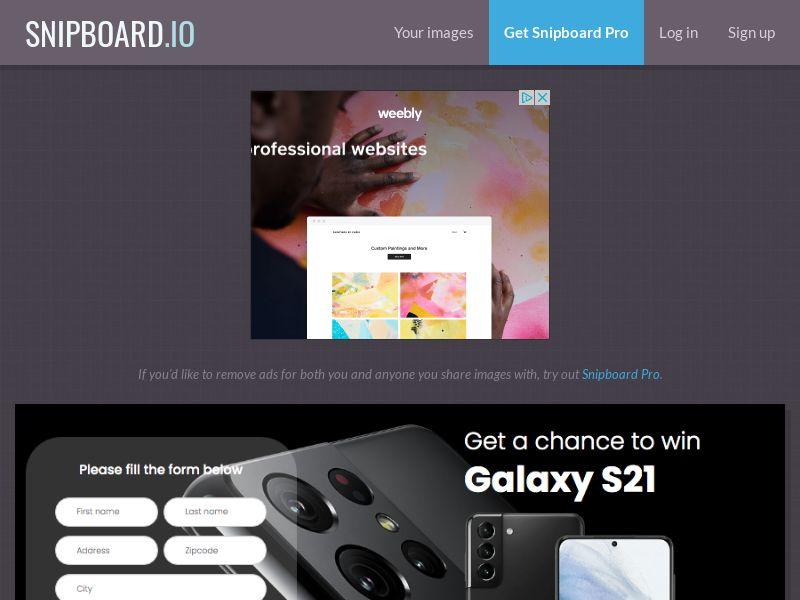 BigEntry - Samsung Galaxy S21 v1 UK - CC Submit