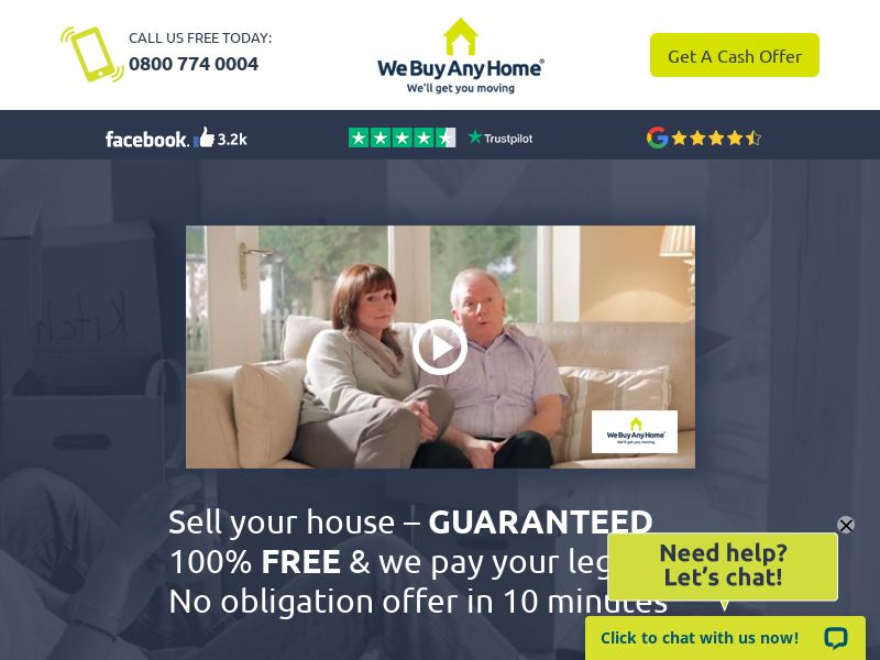 We buy any home - UK (GB), [CPA], Services, Online, Sell