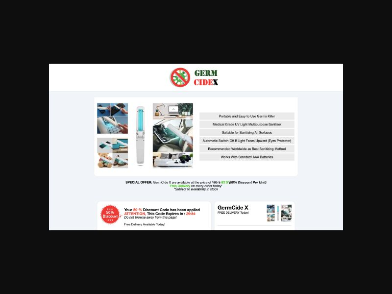 Germ Killer UV CPS (Worldwide)