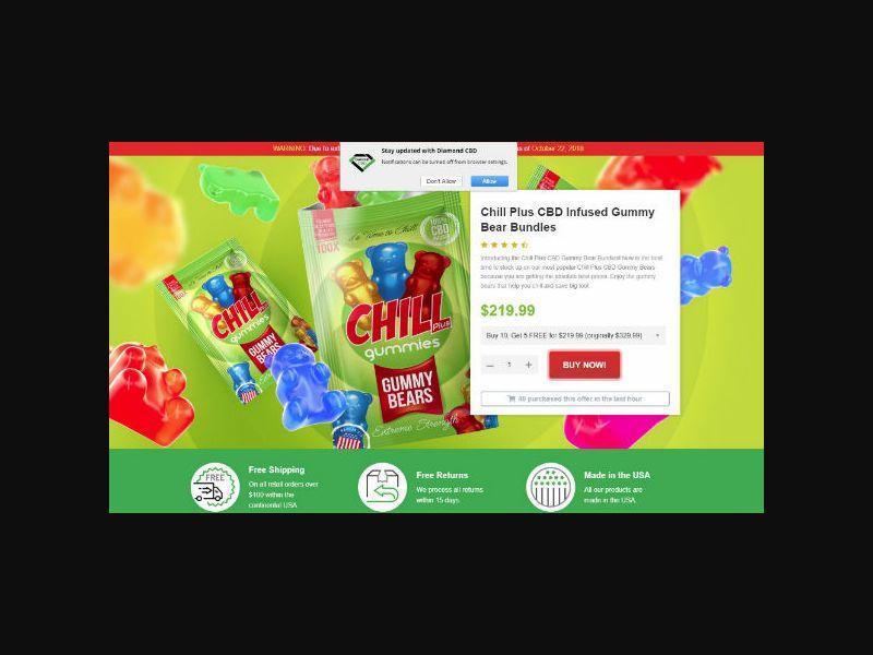 Chill Plus CBD Infused Gummy Bear - Rev Share