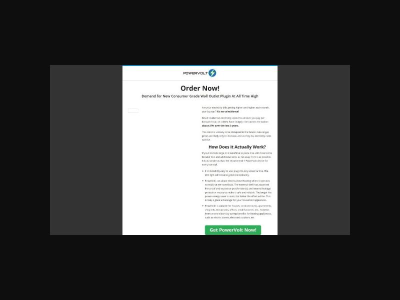 PowerVolt - Wall Outlet Plugin (US)